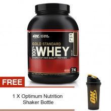 Optimum Nutrition Gold Standard 100% Whey, Double Rich Chocolate, 5lbs (Free Shaker)