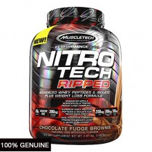 MuscleTech Nitro Tech Ripped, Chocolate Fudge Brownie, 4lbs