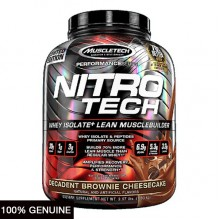 MuscleTech Nitro Tech, Decadent Brownie Cheesecake, 4lbs