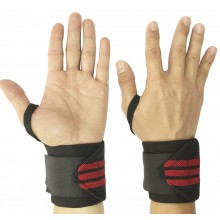 OEM Wrist Wraps, Black/Red, Free Size
